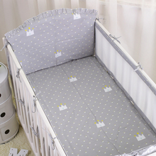 цены Summer Breathable Baby bumpers safe Kids Baby Crib Bumper sets   infant Bedding Sets Sheet Crib Liner Cot Around Protector 6PCS