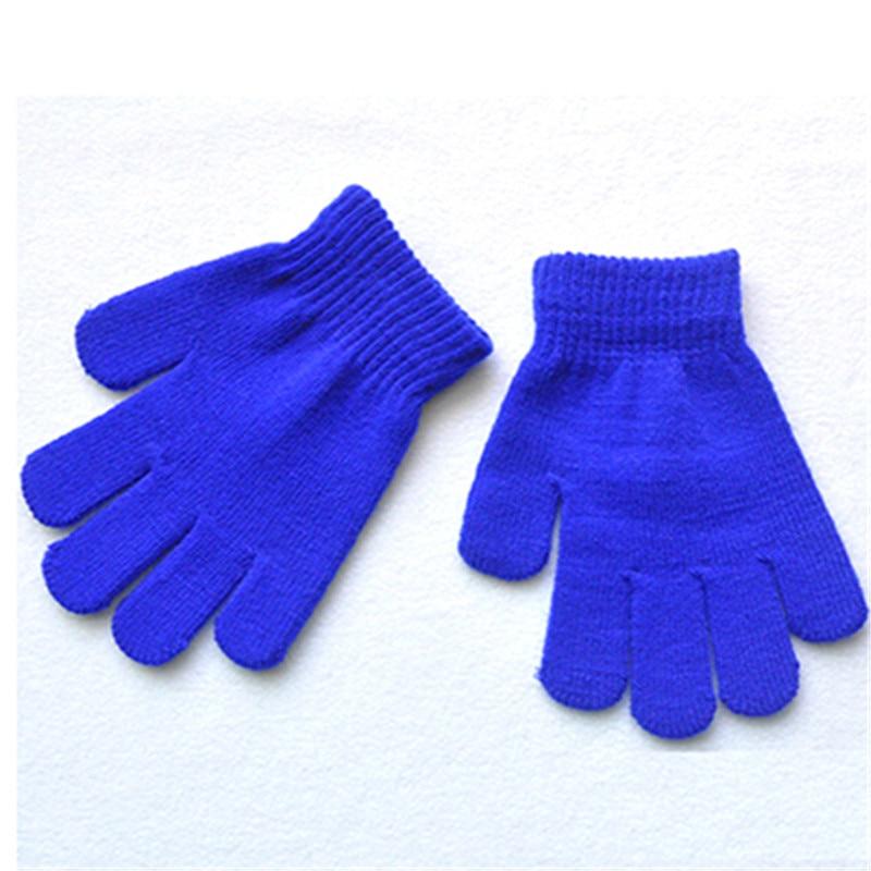 1 paire Automne et D hiver Enfants Fille Garçon Chaud Neige Extensible  Tricoté Gants Mitaines Xrisma Cadeau 2018 Nouveau Bleu 233e645c116