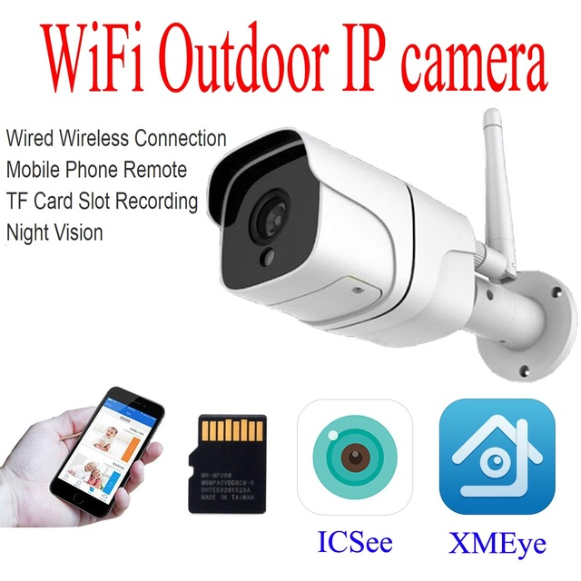 2 0mp Outdoor Wireless Wifi Ip Camera Home Security Night Vision Motion Detection Video Ap Cctv