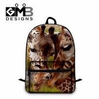 Cute Animal Giraffes Printing School Bags For Teenagers Elementary Students Best Backpacks Large Bookbags For College