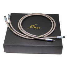 MPS M-9R HiFi 99.99997% OCC 24K rhodium Plated Plug connector RCA audio cable DVD CD DAC amplifier Audio cable mps m 6mk2 eu european standard hifi 99 9997% ofc 24k gold plated 3pin power cord cable dvd cd amplifier ac power cable