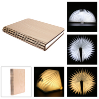 Creative Design Foldable Book Lamp 5V 300mA LED Induction Wooden Folding Book Shaped USB Rechargable Reading