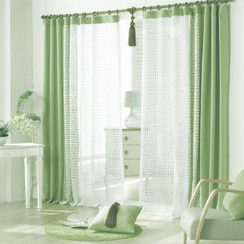 rideaux vert promotion achetez des rideaux vert. Black Bedroom Furniture Sets. Home Design Ideas