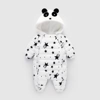 Inverno abbigliamento Siamese del bambino Neonati Mianfu Bambino Arrampicata Cappotto Con Cappuccio Baby Panda di Cotone imbottito Piede pacchetto salita
