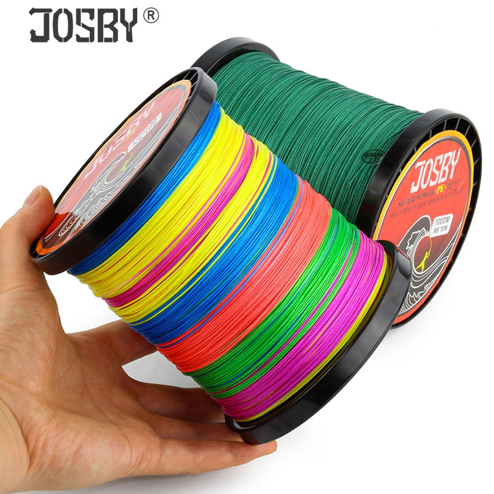 JOSBY 4 Braid Fishing Line 10-120LB 150M 300M 500M 1000M 4 Strands Braid Fishing Line Multifilament Fishing Wire Carp Fishing