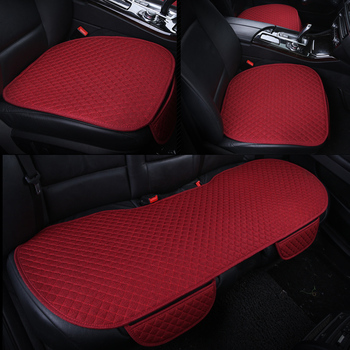KKYSYELVA 3pcs/set Car interior Accessories Seat Cover Black universal Black Auto seat cushion Car seat seat covers