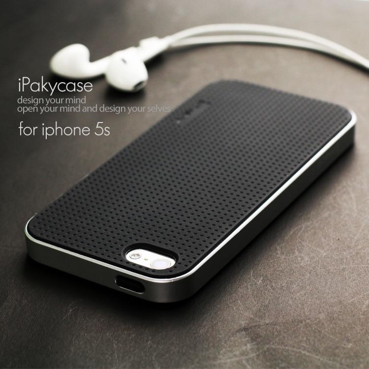 promo code 6e291 dc8e6 US $3.99 20% OFF|100% originele ipaky merk top kwaliteit case Voor iphone  5s voor iphone SE Classic Silicon Cover alle kleur in voorraad in 100% ...
