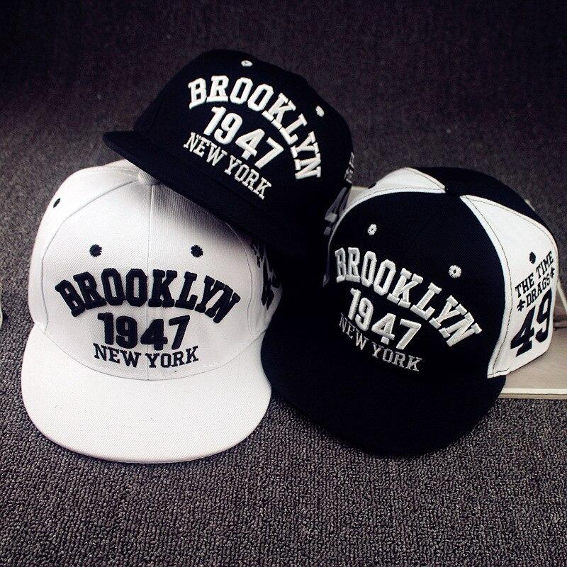 1947 Brooklyn estilo del deporte gorra de béisbol gorras planas SnapBack  gorras Nueva York hip hop sombreros snapbacks casquette Polo cap en de en  ... 1e410fb29bc