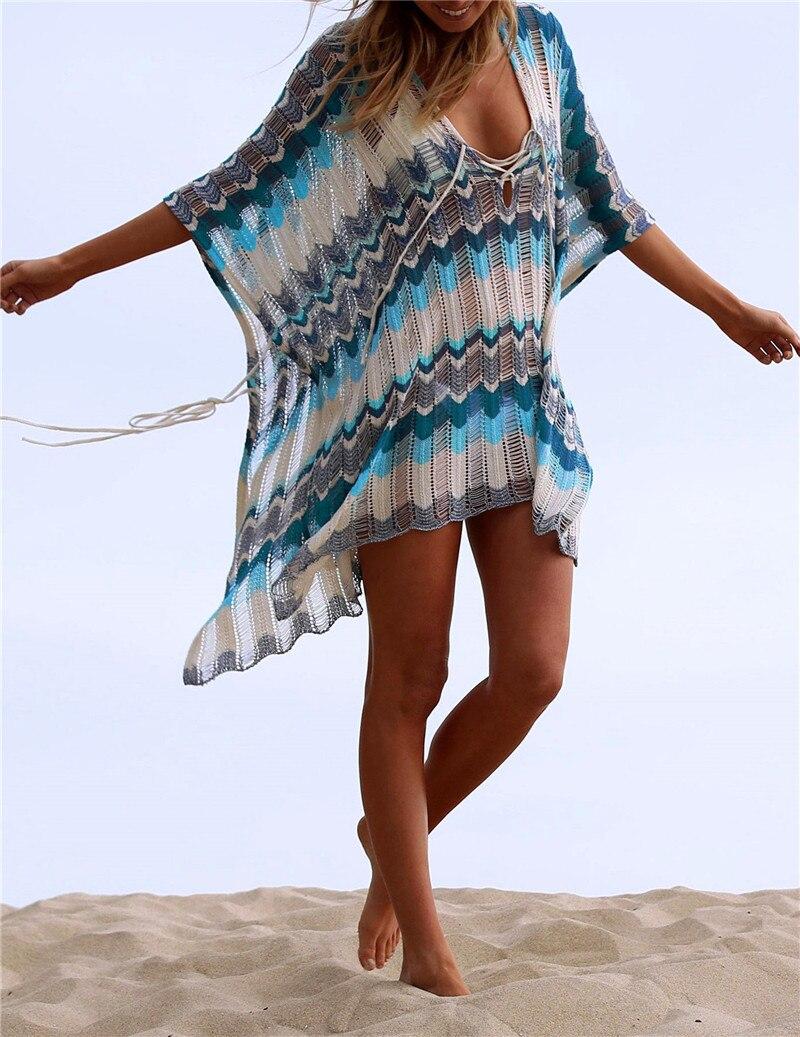 Oversize Crochet Sarong Kaftan Beach Tunic