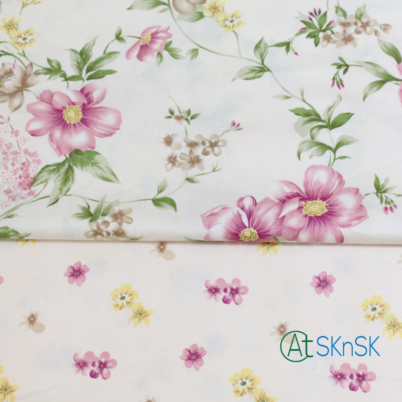 2pcs/lot Good Fabric DIY sewing fabric for clothes curtain table cloth Bedding textile flower printed cotton fabric patchwork
