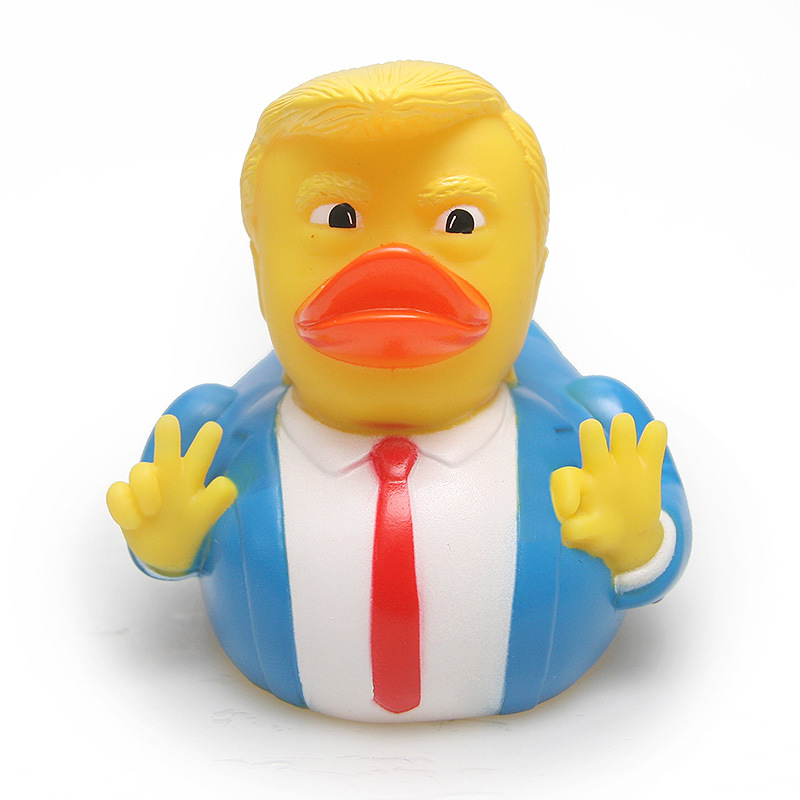 2018 Funny Trump Duck Bath Toy Shower Water Floating US President Rubber Duck For Baby Toy Water Toy 1PCS Hot Sale