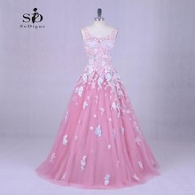 Beach Wedding Dress Bride Pink 2018 SoDigne Lace Applique Newest Coming Bridal Gown Elegant