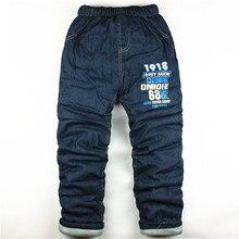 Высшего кашемировые bibicola мальчика толщиной письмо теплая зимние малыш джинсы качества