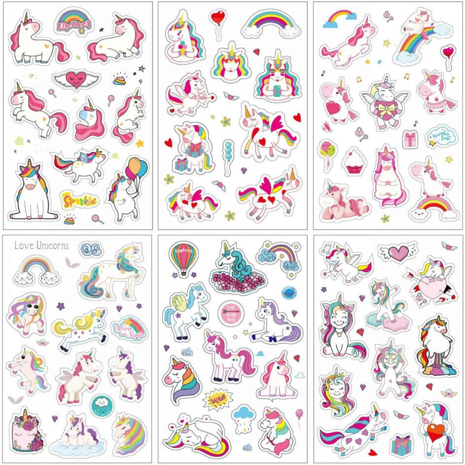 6 Pcs/pack Cartoon Sweet Pink Unicorn Bullet Journal Decorative Stationery Stickers Scrapbooking DIY Diary Album Stick Lable