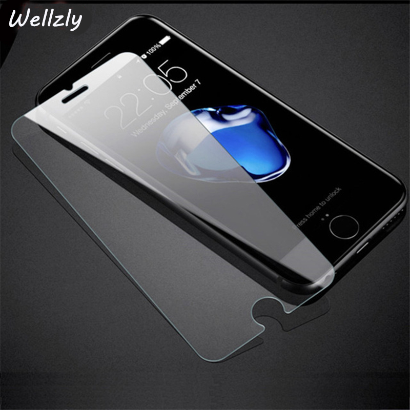 Wellzly 2.5D Tempered Glass For iphone7 6 6s X Tough Protection Screen Protector Glass For iphone 8 5 5s se 6 7 8 Plus glass B21Wellzly 2.5D Tempered Glass For iphone7 6 6s X Tough Protection Screen Protector Glass For iphone 8 5 5s se 6 7 8 Plus glass B21