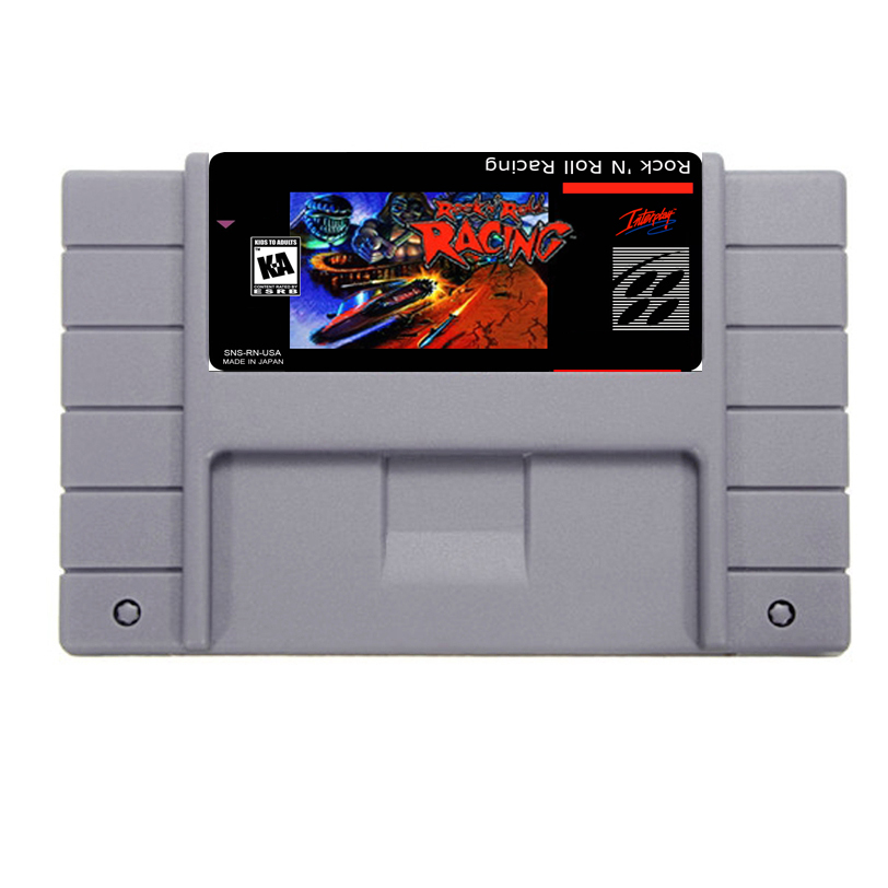 Hot Sale Rock N Roll Racing Game Card For 46 Pin 16 Bit NTSC Game Player