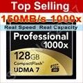150 MB/s Marca 1000x32 GB 64 GB 128 GB CompactFlash Cartão CF de Alta Velocidade Cartão de Memória Flash Para DSLR Camera Filmadora Full HD 3D