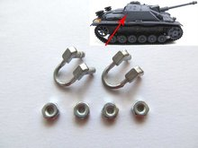 Mato turret side handrail for  1/16 1:16 RC Stug III tank, metal upgraded parts