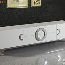 Мебель для гостиной, для дома, тумбы под телевизор, современный стиль, для кожаной поверхности и декорированные маленькие боковые карбинеты на основе нержавеющей стали