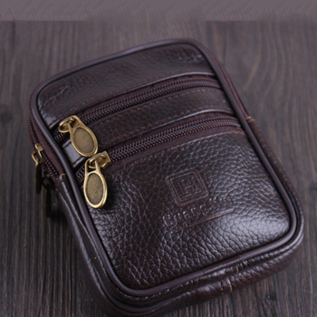 Vintage Cow Leather Vintage Multi-function Men Waist Pack Wallet