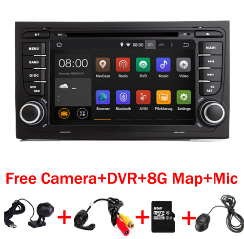 7 Touch Screen Car DVD GPS for Audi A4 Android 7 1 2002 2008 year with