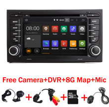 7″ Touch Screen Car DVD GPS for Audi A4 Android 7.1( 2002-2008) year with Wifi 3G GPS Bluetooth Radio RDS USB SD Free 8GB Map