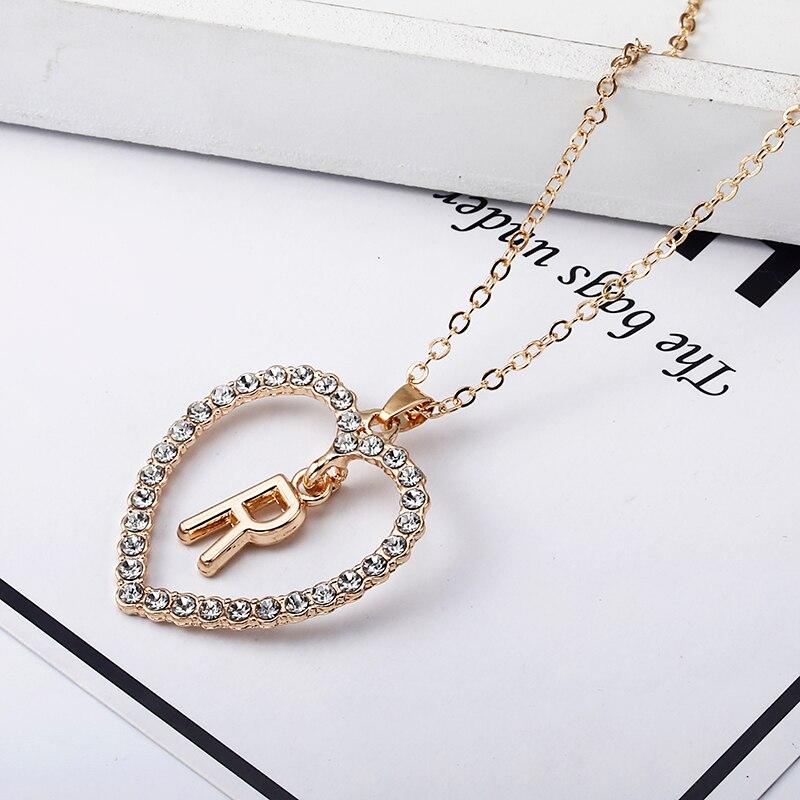 2018 Simple couleur or amour coeur colliers et pendentifs double strass collier ras du cou femmes déclaration Bijoux Bijoux x1 1
