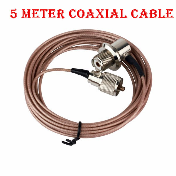 Pink 5 Meter Coaxial Cable UHF/PL-259 Male to Female for YAESU for ICOM for qyt 8900 <font><b>7900D</b></font> Mobile Radio Walkie Talkie Antenna image