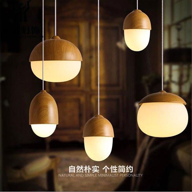 ФОТО Home Dining Room Pendant Lamps Modern Creative Restaurant Coffee Bedroom Pendant Lights Iron Nuts pendant light AC110V/220V