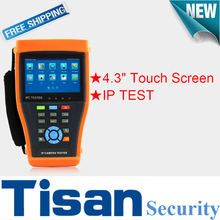4.3 inch touch screen IP Analog Camera tester cctv tester