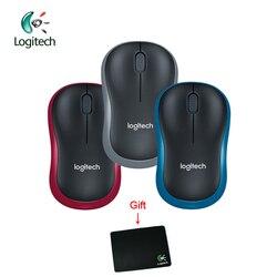 Logitech M186 2.4G bezprzewodowa mysz z ergonomicznym 1000 dpi obie ręce Laptop Gamer oficjalna weryfikacja wsparcie + bezpłatny prezent