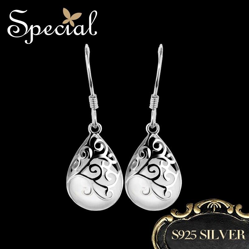 Особая мода 925 стерлингового серебра серьги опал Tear Drop серьги водослива Свадебные украшения подарки для Для женщин EH13A10061