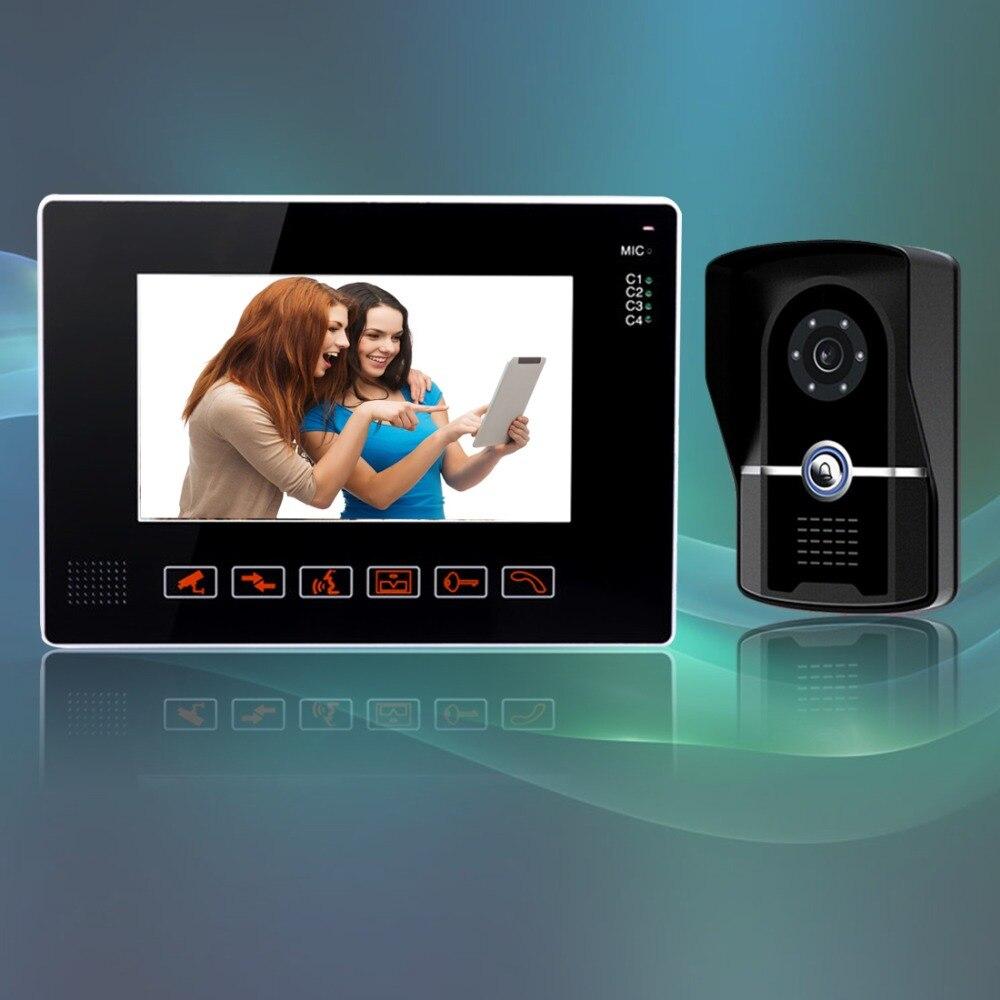 freeship 9 Inch Video Door Phone Doorbell Intercom Kit 1-camera 1-monitor Night Vision Wired