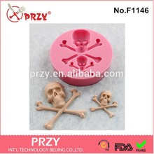 PRZY Skull Soap Molds Handmade Mold Candle Gypsum Chocolate Candy Mould Fondant Cake Decoration Clay Resin