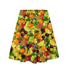 Фруктовый Стиль 3D новая одежда повседневная юбка с принтом Женская летняя сексуальная удобная юбка Топы крутые женские горячие продажи юбки плюс