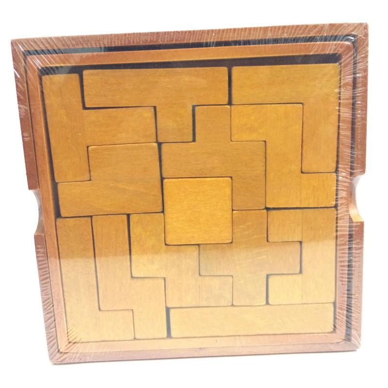 Classic IQ 3D Tetris Trä Hjärn Teaser Pusselspel Utbildningsleksaker för barn / vuxna, kreativa 3D trä pussel leksaker