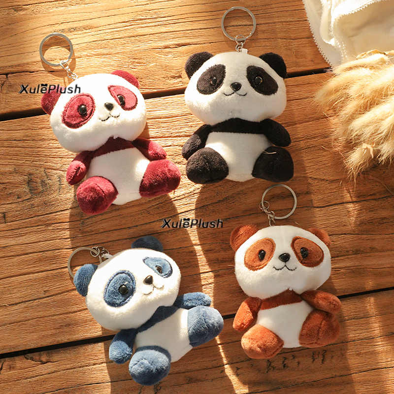 Multi Ukuran, baru-Kekasih Panda 3-10 Cm Plush Boneka Mainan-Gantungan Kunci Cincin Liontin Mainan Mewah, pernikahan Hadiah Panda Plush Mainan