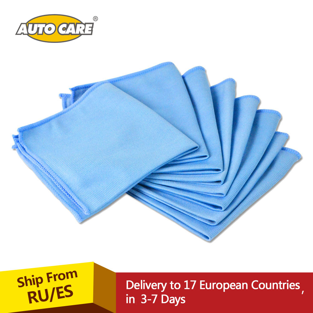 8 pack car microfiber glass cleaning towels stainless for Glass cleaning towels