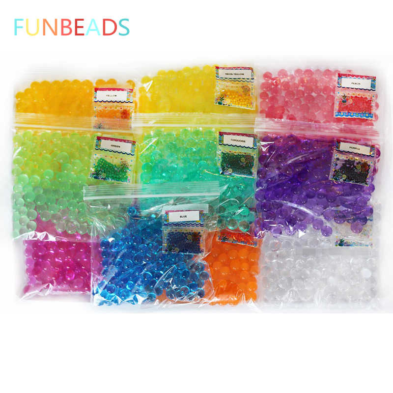 20bags/lot 10 Colors 2.5-3mm Crystal Soil Orbiz Ball Magic Growing Water Balls Hydrogel Gel Water Beads For Plant Home Decor