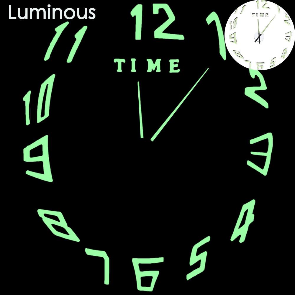 27 различных дизайнов светящиеся настенные часы современный дизайн настенные цифровые большие Big3D DIY модные Saat Reloj Horloge klok - Цвет: wall clock 14