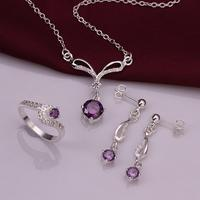CS828 Italina Jewelry Set Dubai Jewelry Sets Silver Plated Christmas Gift Bijoux Women 2014 Sets