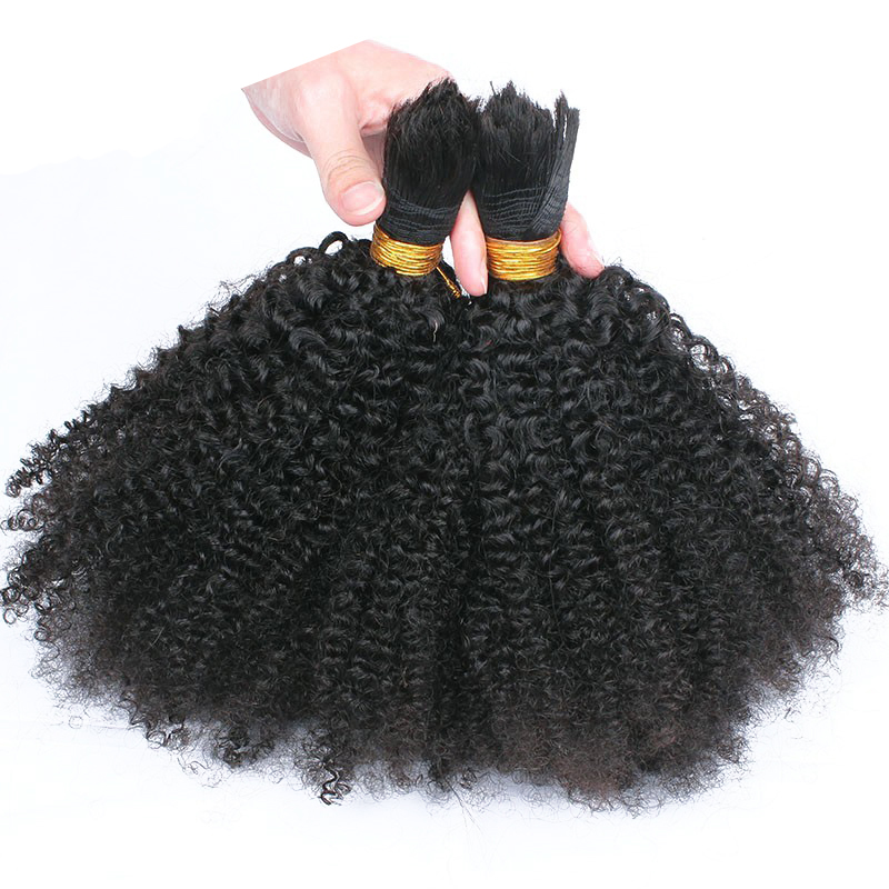 Human Braiding Hair Bulk No Weft 4B 4C Afro Kinky Curly Bulk Hair For Braiding 3Pcs/Lot Mongolian Remy Hair Crochet Braids