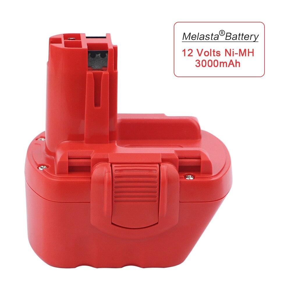 Melasta 12 V 3000 mAh Ni-MH Rechargeable Batterie pour Bosch Sans Fil Power Tool Batterie BAT043 BAT045 BAT049 2 607 335 273 BAT120