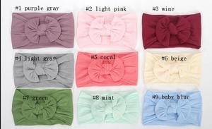 Image 5 - Top Selling Newborn Kids Handmade Nylon Headbands,Knotted Hair Bow Headband,Children Girls Headwear Hair Accessories 30pc/lot