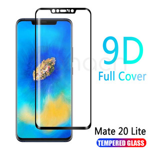 Image 1 - 9D Protective Glass on the For Huawei Mate 20 10 Pro 20X 9 Lite Screen Protector For Huawei P Smart Tempered Glass Film Case