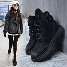 2018 ฤดูใบไม้ร่วง/ฤดูหนาวใหม่ Martin boots สำหรับผู้หญิงอเนกประสงค์ schoolboys retro สไตล์อังกฤษผู้หญิงยุโรปยอดนิยมรองเท้า