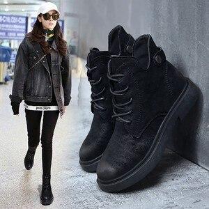 Image 1 - 2018 outono/inverno nova Martin botas para as mulheres com o versátil estudantes com retro Britânico estilos Europeus populares das Mulheres botas