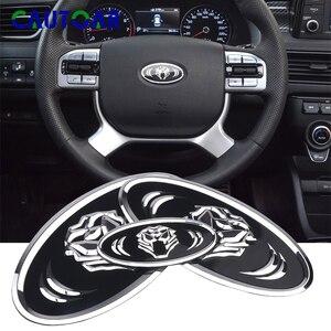 Car styling Tiger emblem Front & Rear Badge Car Stickers Trunk Steering Wheel Emblem Badge For KIA K7 K5 K3 K2 Car Styling