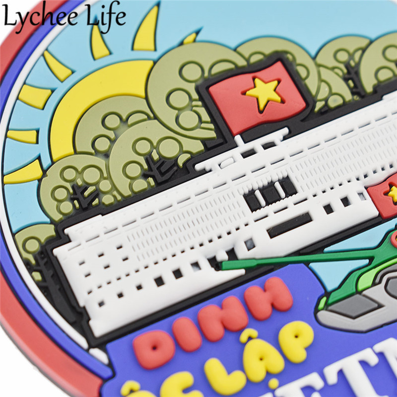 Vietnam Flag Fridge Magnet Cable Car Refrigerator Magnetic Sticker Souvenirs