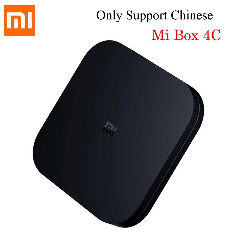 Original XIAOMI Mi Box 4C Android TV BOX 6.0 Amlogic Cortex-A53 Quad Core 64bit 1GB/ 8GB 4K HDR TV Box DTS-HD HDMI 2016 new original xiaomi tv box 3 s pro amlogic s905 cortex a53 2 0ghz 1gb ddr3 4gb emmc5 0 android 5 0 4k 3840 x 2160